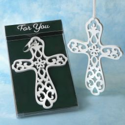 Fashioncraft First Communion Frame with Metal Cross White