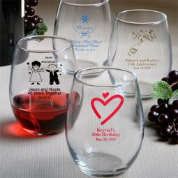 Personalized baby shower favors lafavoritafavors personalized stemless wine glasses negle Image collections