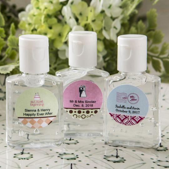 Rose Gold Sweet 16 Hand Sanitizer Labels
