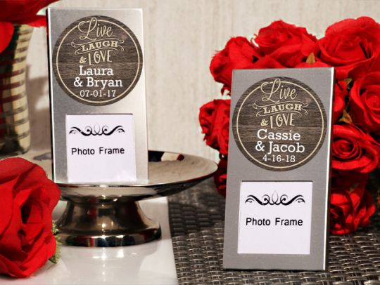 Live, Laugh and Love Personalized Mini Photo Frame Favors