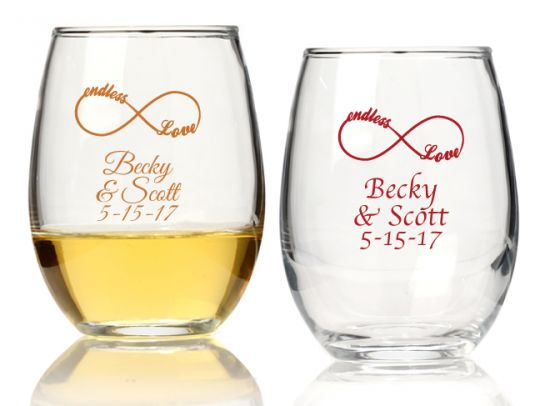Stemless Wine Glass Favors