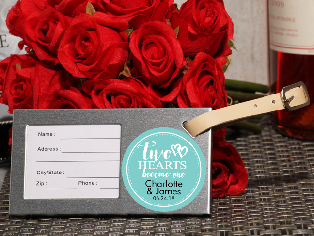 Personalized Luggage Tag Favors