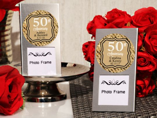 50th Anniversary Personalized Mini Frame Lafavoritafavorscom