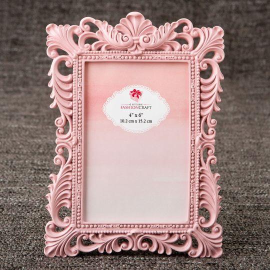 Elegant Pink Quartz 4x6 Baroque Frame Lafavoritafavors