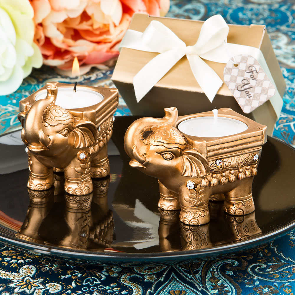 Wedding Favors Silver Finish Elephant Place Card Holders FC-5356