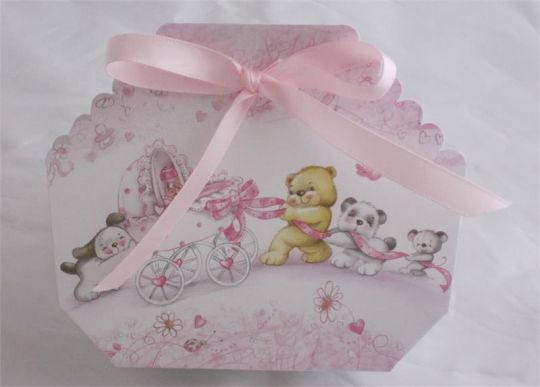Italian Favor Box Bomboniere Baby Shower Confetti Holder   Item #1380