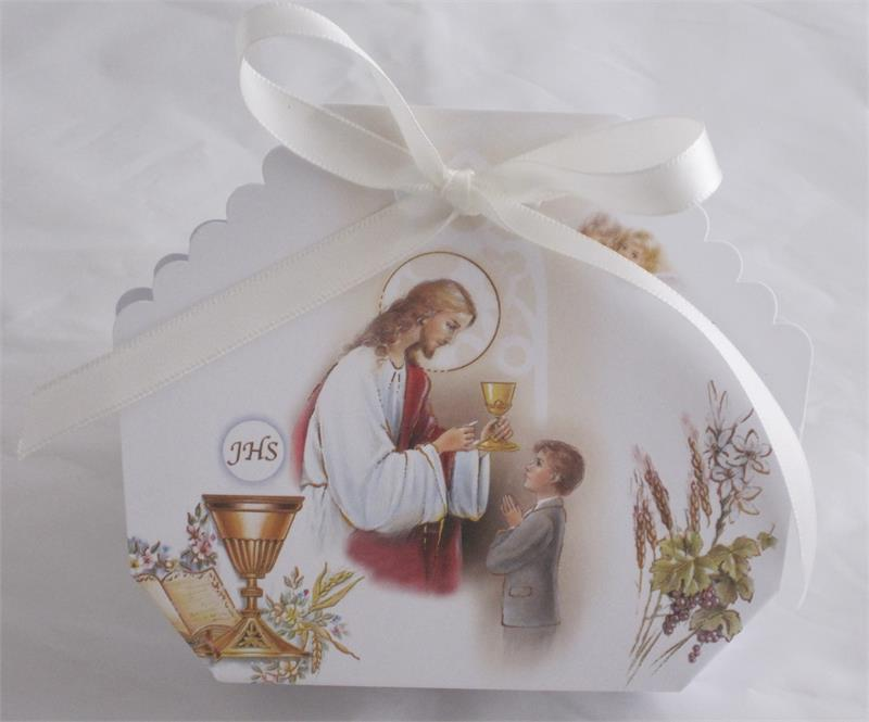 Italian Favor Box Bomboniere First Communion Confetti Holder