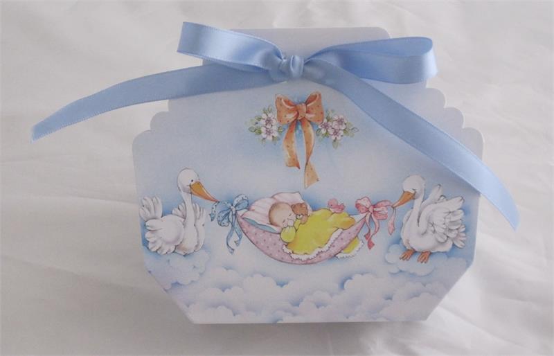 Italian Favor Box Bomboniere Baby Shower Confetti Holder