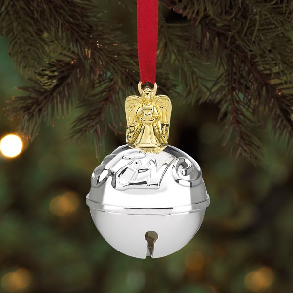 Angel Topped Silver Amp Gold Plated Just Jingle Bell