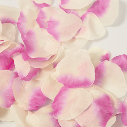 Hot pink and off white rose petals 60 count lafavoritafavors hot pink and off white rose petals 60 count mightylinksfo