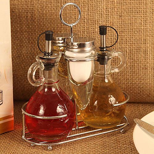 Quot Deluxe Mini Cruet Set Quot Oil Vinegar Cruets Salt Pepper